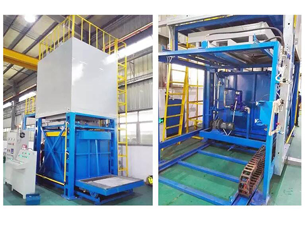 Aging quenching furnace for aluminum alloy in industrial heat treatment