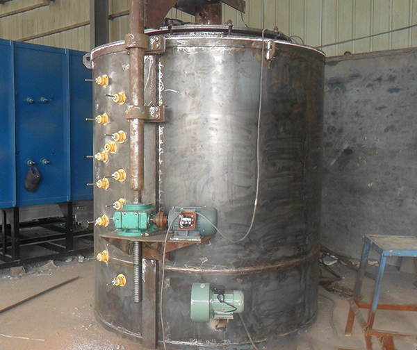 Industrial furnace pit gas carburizing furnace