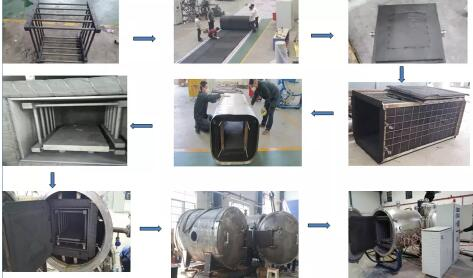 Electric industrial heat treatment resistance derubber vacuum furnace