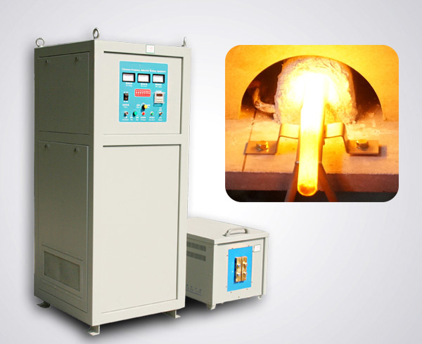Flat steel induction forging furnace