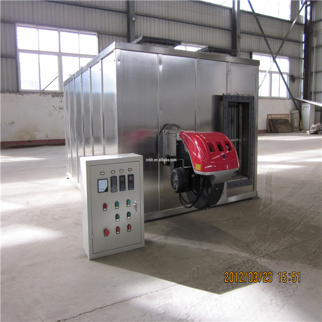 Hot air furnace for ceramic or rubber industry