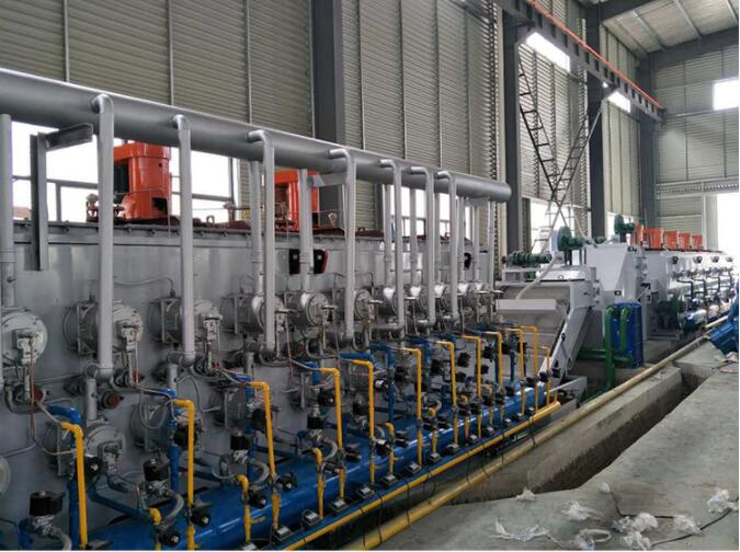 Roller Type Mesh Belt Control Atmosphere Heat Treatment Production Line