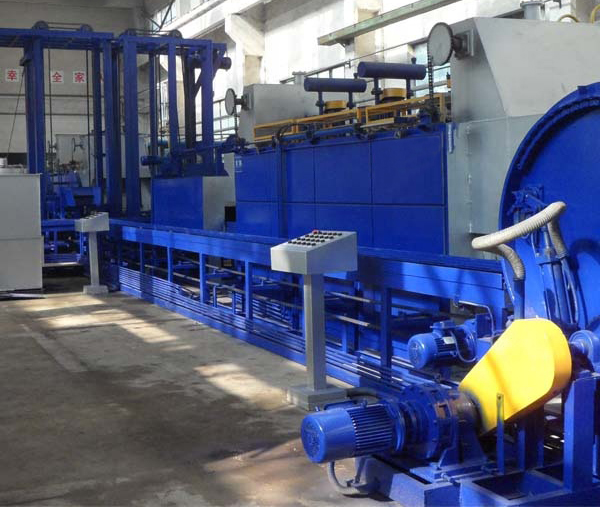 Automatic production line for heat treatment of standard parts