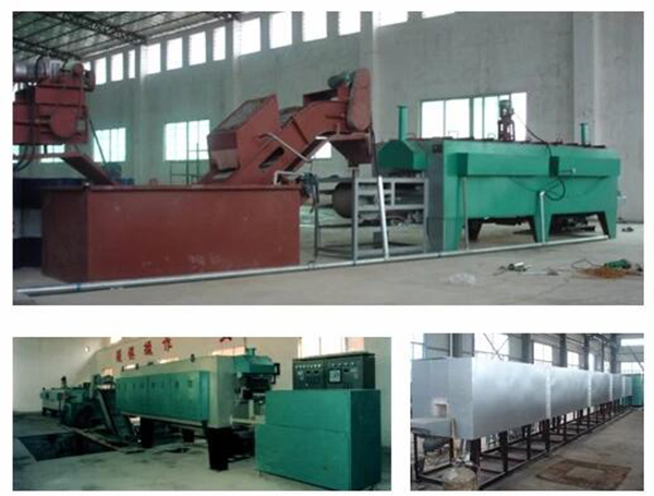 High temperature protective atmosphere heat treatment production line