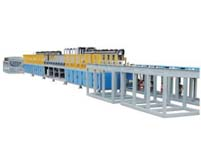Steel bar tempering heat treatment production line