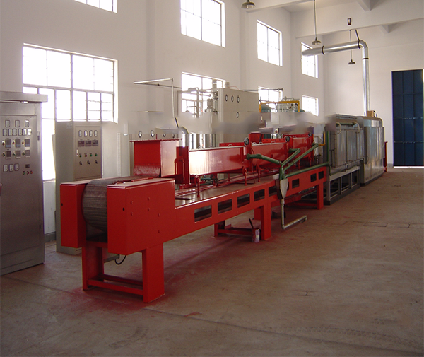 Powder metallurgy mesh belt sintering muffle furnace