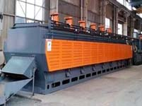Mesh belt continuous heat treatment production line