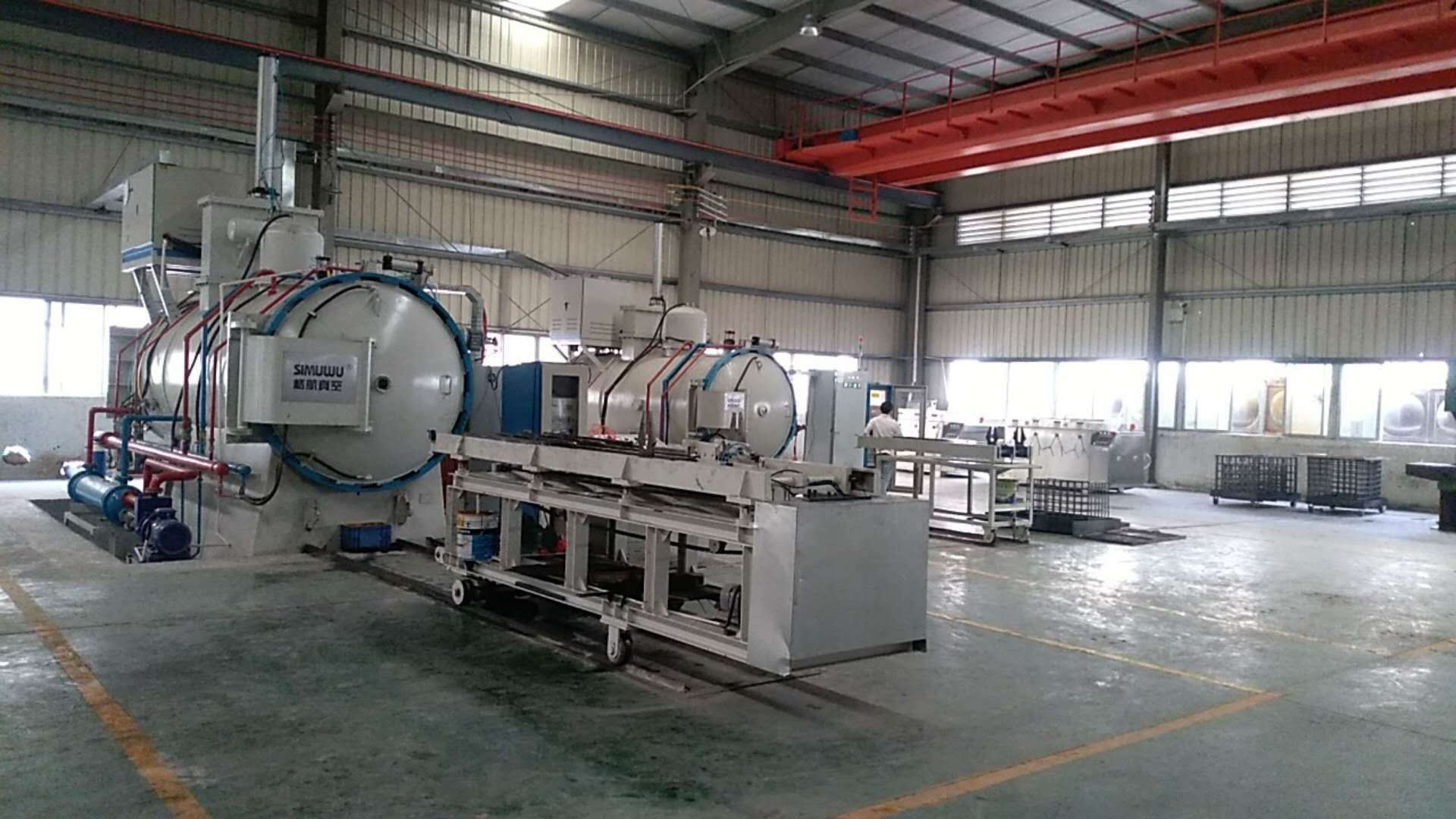 Double chamber vacuum carburizing furnace