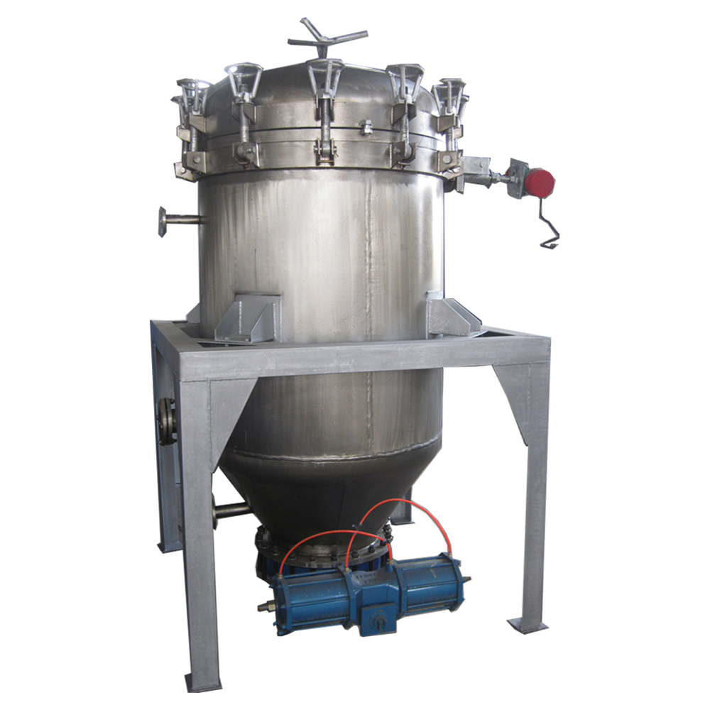 inclosed vertical pressure leaf filter