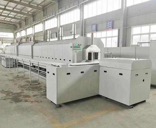 Push plate tunnel furnace
