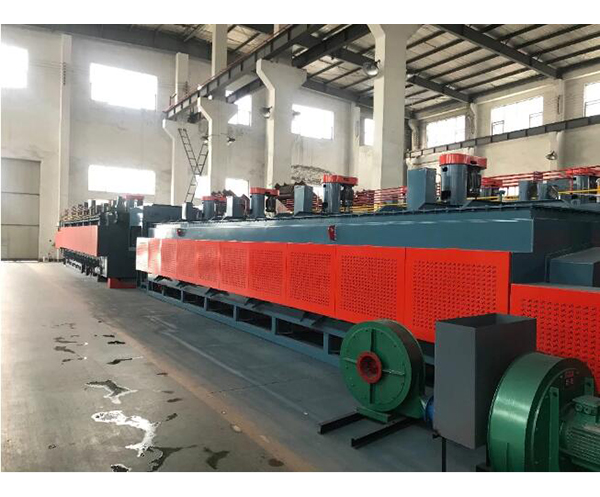 Carburizing and quenching electric continuous spiral mesh belt furnace