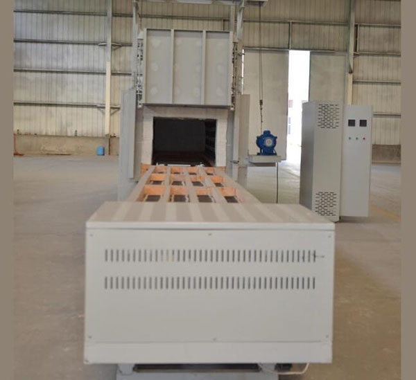 Alloy annealing industrial trolley electric gas bottom furnace