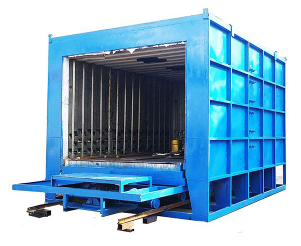 Trolley type stress relieving metal tempering heat treatment furnace