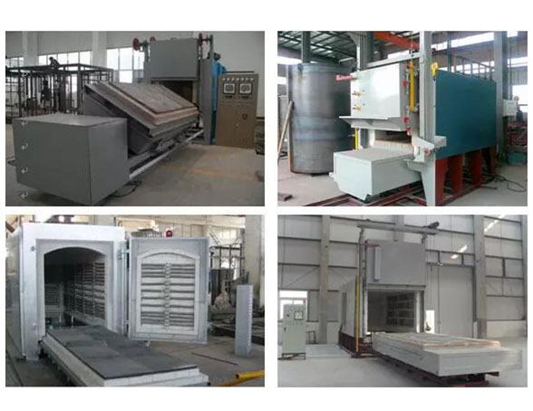 All-fiber trolley resistance heat treatment furnace