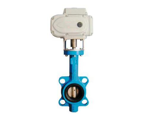 Electric wafer type butterfly valve